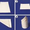 Как красиво сложить бумажные салфетки?