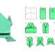 Как сделать оригами лягушку?