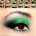 Макияж. Цвет ядовито-зеленый