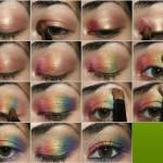 Макияж. Цвет радуга