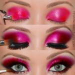 Макияж. Цвет Тёмно-розовый