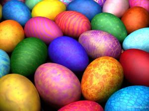 яйца крашеные марлей