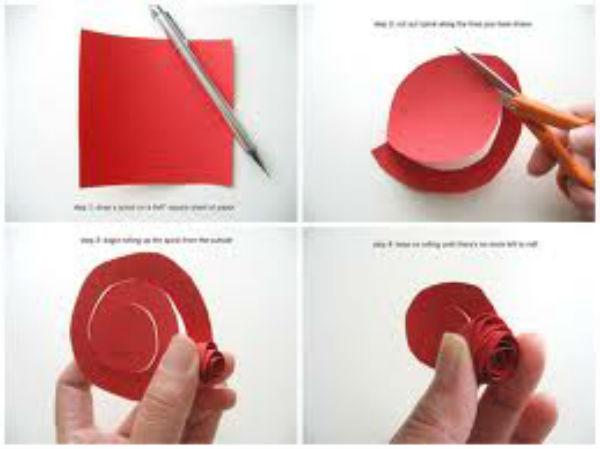 Как сделать из бумаги розу?