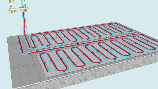 Как сделать водяной теплый пол?